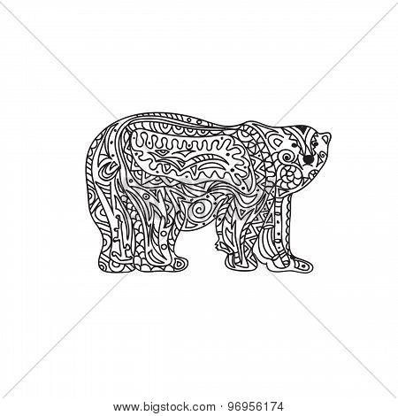 Polar Bear zentangle