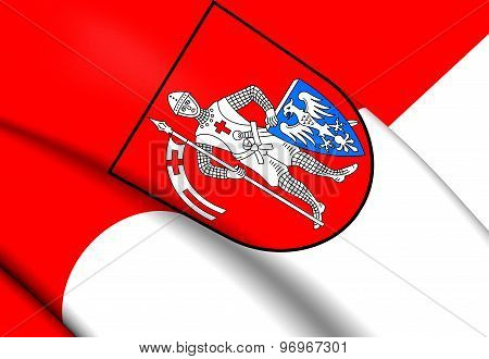 Flag Of Bamberg City, Germany.