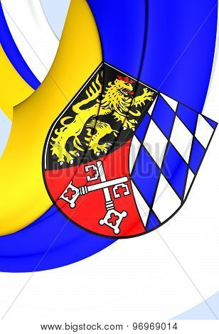 3D Flag of Upper Palatinate Region Germany. Close Up. poster