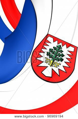 Flag Of Pinneberg District, Germany.
