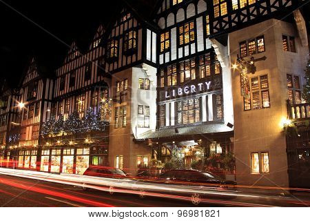 Liberty department store, Christmas decorations