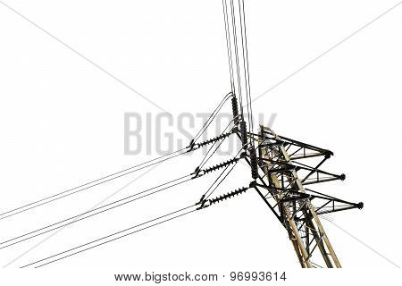 High Voltage Post Junction With White Background