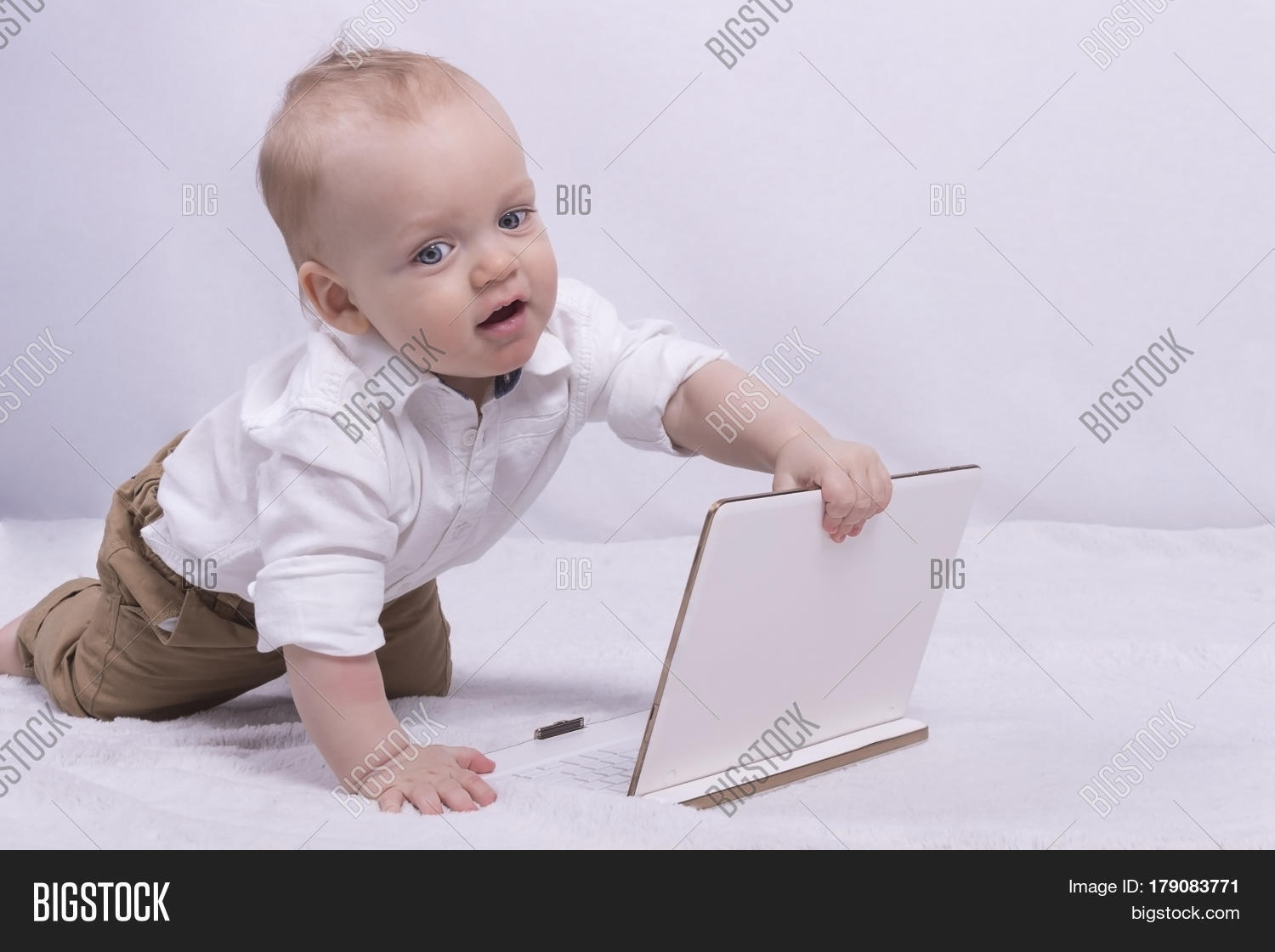 641d7c5d1bcc Cute 10-month-old Baby Image   Photo (Free Trial)