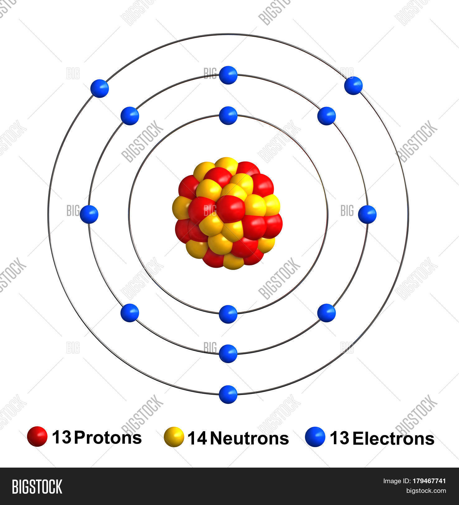 Diagram of an aluminum atom example electrical circuit 3d render atom image photo free trial bigstock rh bigstockphoto com draw a diagram of an aluminum atom shell model diagram for aluminum ccuart Images