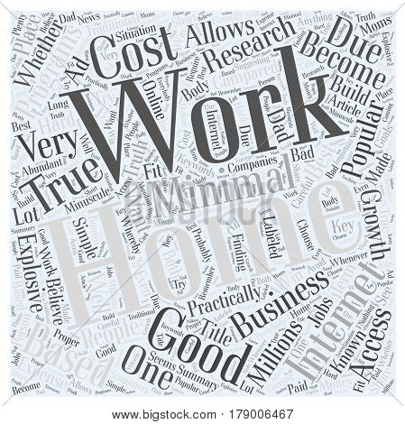 Simple At Home Work Word Cloud Concept