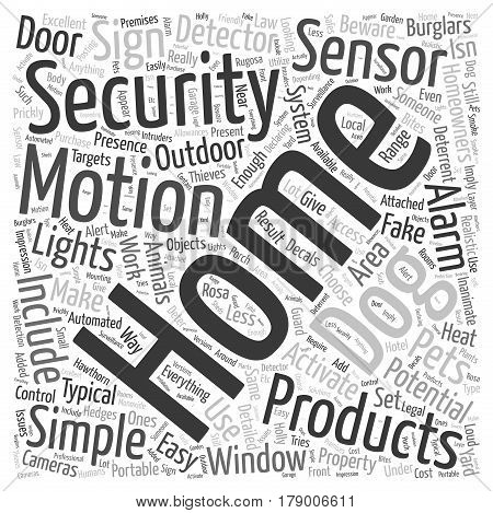 Simple Home Security Products Word Cloud Concept