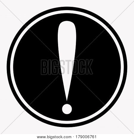 Attention caution sign with exclamation mark symbol. Warning or danger precaution vector isolated icon or label