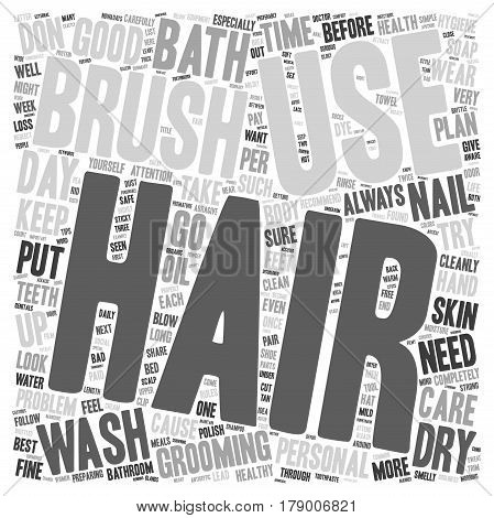 Simple Rules For Personal Health And Hygiene text background wordcloud concept