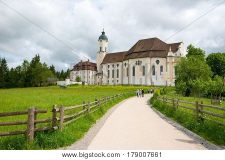 The Beautiful Pilgrimage Church Of Wies, Bavaria, Germany.