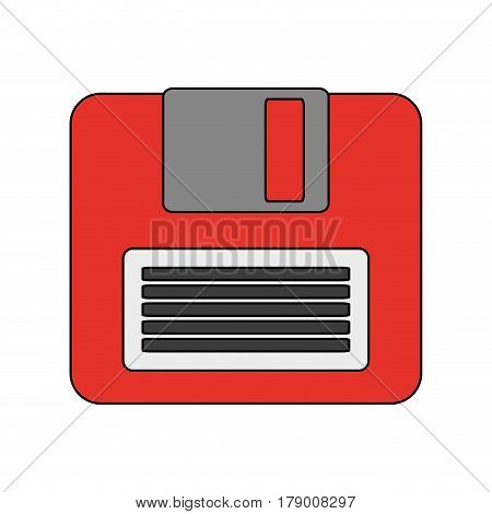 diskette or floppy disk icon image vector illustration design