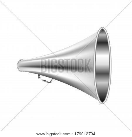 Loudspeaker retro metal in a realistic style for Voice Speaker man isolated on white background Vector Illustration for your symbol Total project.