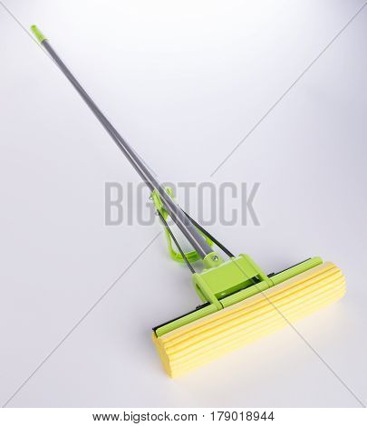 Mop Or Plastic Mop With Aluminum Handle.