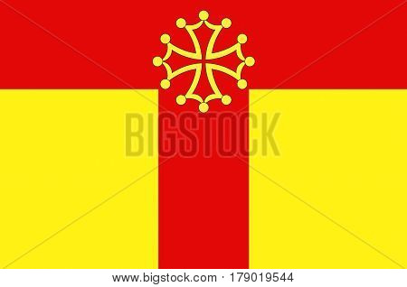 Flag of Tarn is a French department located in the Occitanie region in the southwest of France.