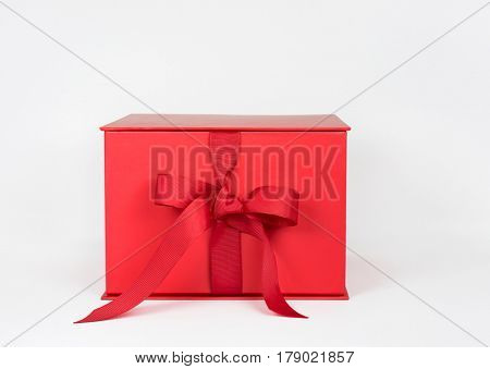 Red Box with Grosgrain Ribbon Bow