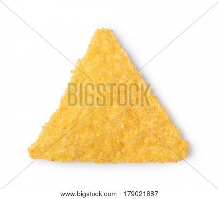 nachos chips on white background