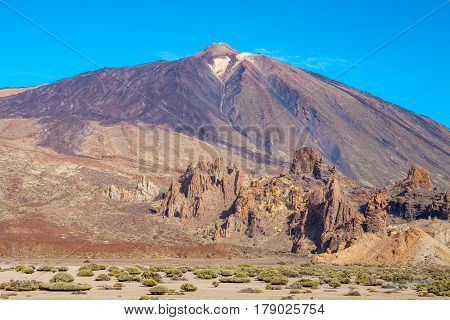 View of Teide Volcano Mount. Tenerife Canary Islands Spain Europe