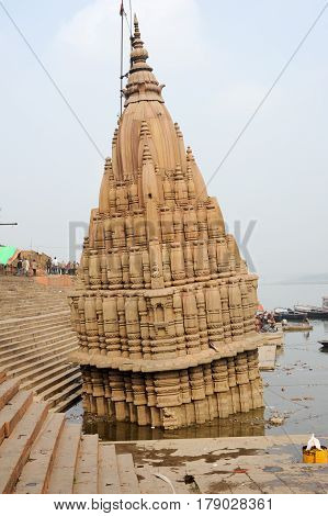 Temple On The Ghats Of River Ganges