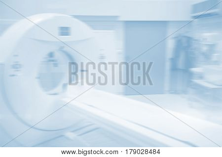 MRI scanner in room at hospital