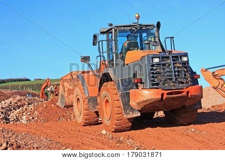 Front Loader working on a construction site