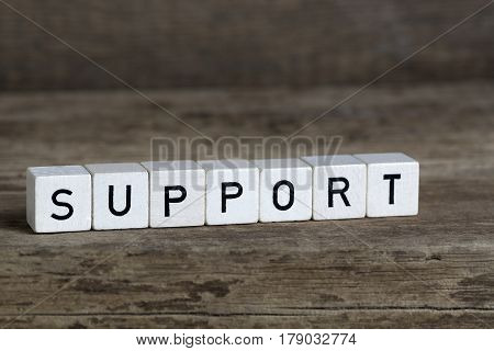 Support, Written In Cubes