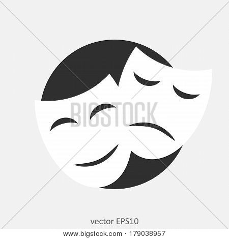 The theater illustration. Theatre masks. Vector stylish.