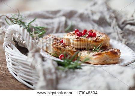 Savory pie with reindeer meat