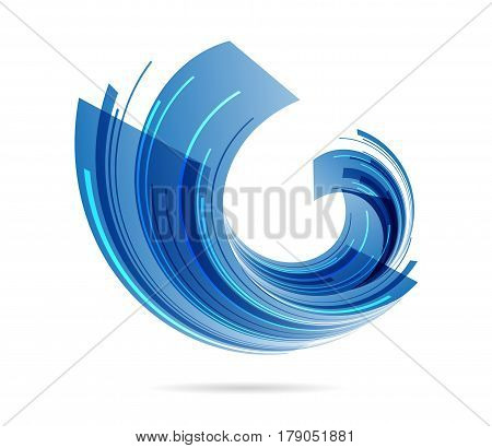 Abstract business sign on white background, vector illustration
