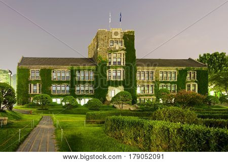 Main Historical And Administrative Building Of Younsei University - Seoul, South Korea