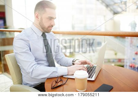 Serious economist concentrating on network