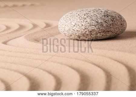 Zen buddhism meditation sand and stone garden, yoga spiritual background