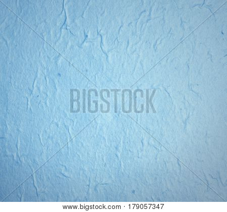 Blue hand made paper for texture or background