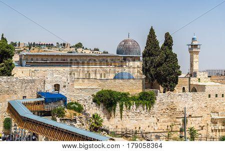View of the Al-Aqsa Mosque in Jerusalem, Israel