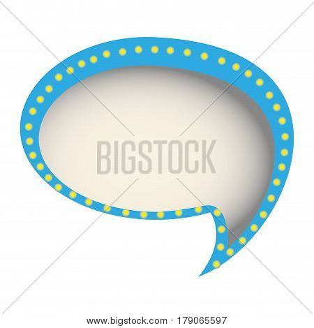 chat bubble of communication dialogue, vector illustration design