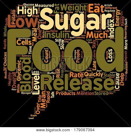 The Glycemic Index What You Should Know About It text background wordcloud concept