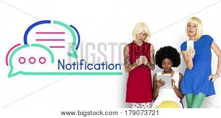 Notification Message Internet Technology Concept