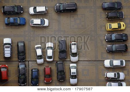 Parking Lot From High Above