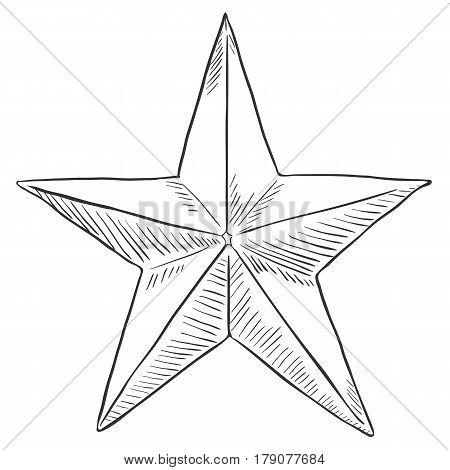 Vector Sketch Star Shape.