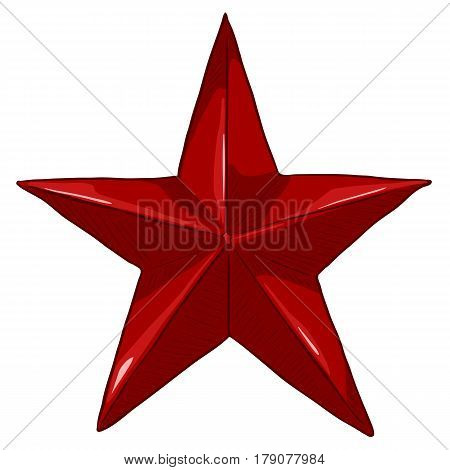 Vector Cartoon Red Star