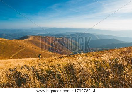 Photographer In A Mountains