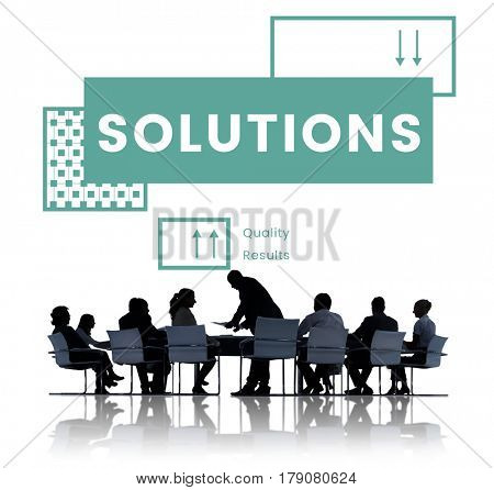 Group of business people brainstorming for strategy plan