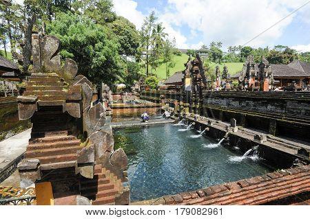 Tirta Empul Hindu Temple At Bali On Indonesia