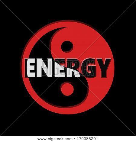 Energy Yin Yang Concept.