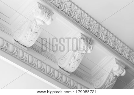 Round Decorative Clay Stucco Relief Moldings