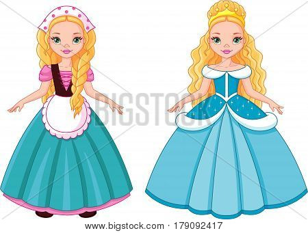 Little Princess Cinderella before and after transformation