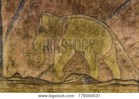 Wall Paintings, Ancient Elephant.