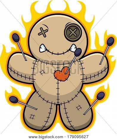 Cartoon Voodoo Doll Flames