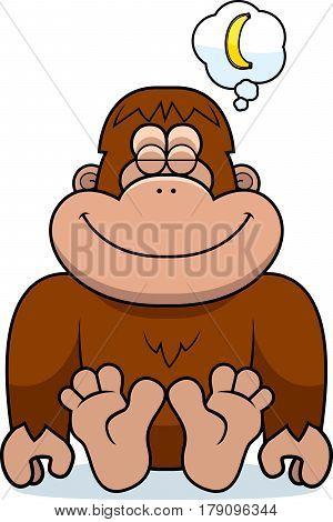 Cartoon Bigfoot Dreaming