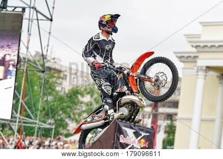 Athlete Disperses On Springboard To Execute Trick