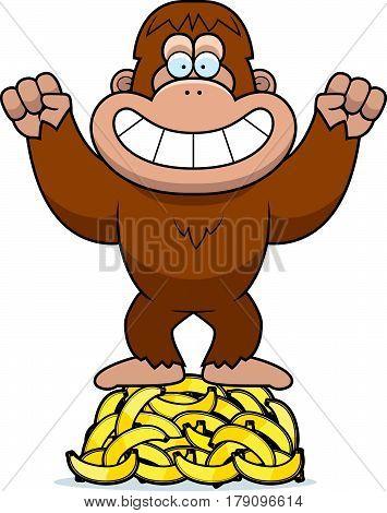 Cartoon Bigfoot Bananas