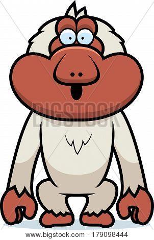 Cartoon Macaque Surprised